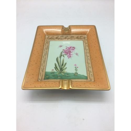 Cendrier Hermes motif fleur