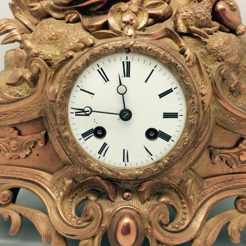 Horloge en bronze doré