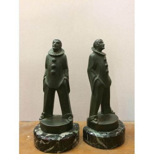 Paire de serre livres en bronze Max Le Verrier