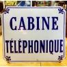 Ancienne plaque émaillée Japy frères et cie cabine téléphonique