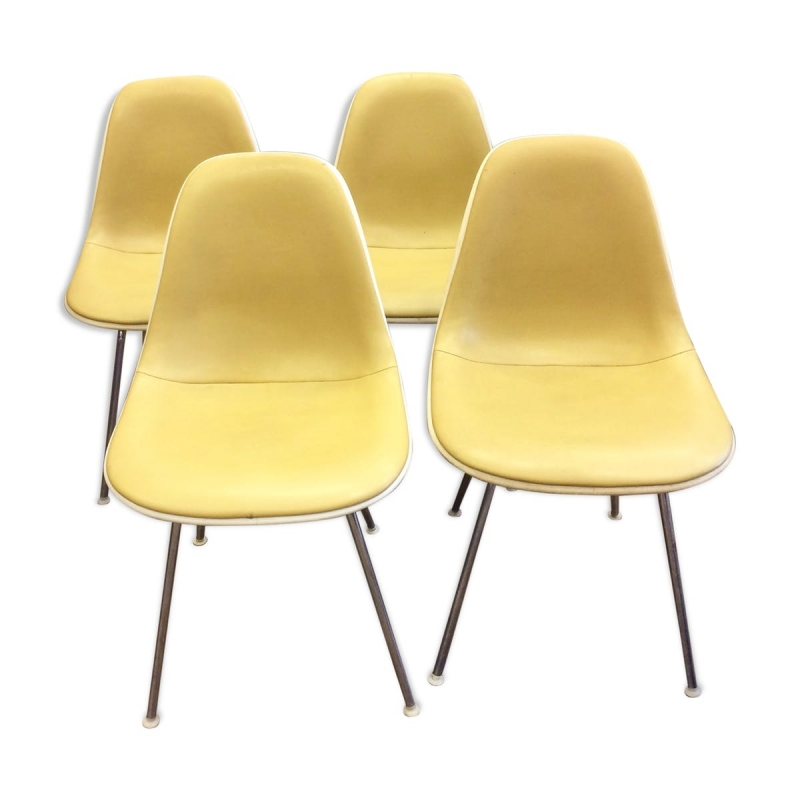 lot de chaises charles ray eames edition herman miller et vitra anne 70 - Chaise Annee 70
